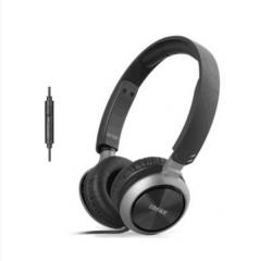 漫步者 K710P 耳机头戴式 手机HIFI重低音便携耳麦带线控 黑色