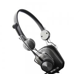 声籁 A12 头戴式耳麦 立体声耳机 水立方 监听耳机 重低音 银黑