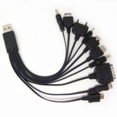 一拖十  手机数据线 USB万能充电线 十合一 多功能充电线直充数据线
