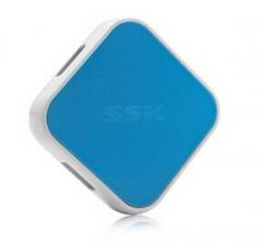 SSK飚王 SHU030 缤纷 USB HUB 4口 (蓝色)