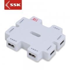 SSK/飚王SHU011    积木USB2.0分线器 7口带独立电源 HUB集线扩展器