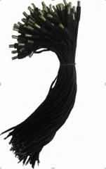 电源头 纯铜线  带卡簧  公头
