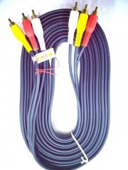蓝海E线 3RCA-3RCA 音频线  5米