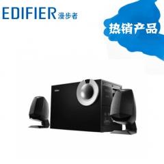 漫步者 R201T08 多媒体台式电脑音箱低音炮 黑色