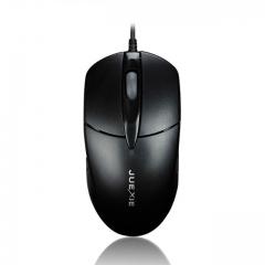 爵蝎 M-2001 办公型USB有线鼠标 黑色 USB