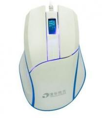 清华同方 F51 大滚轮鼠标游戏鼠标办公有线鼠标 白色【60/件】