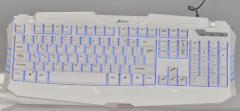 清华同方键鼠 K-526 三色背光办公游戏发光键盘 白色 USB