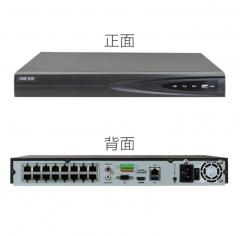 海康威视 DS-7816NB-K2/16P 16路POE H.265网络高清硬盘录像机 双盘位