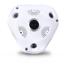 全景摄像机 130万高清无线360度全景监控神器 无线WIFI看家宝