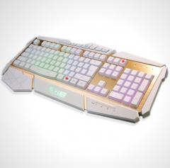 达尔优 掠夺者  多彩背光电竞游戏键盘 白色 USB