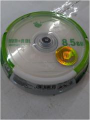 香蕉 8.5G DVD+R刻录光盘(10/桶)
