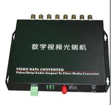 监控光端机 4路数字视频光端机 FC20KM单模单纤  一对