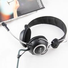 声丽 ST-818 台式机笔记本 头戴式耳机耳麦 黑色