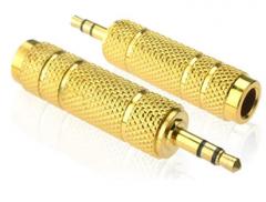 优质音频转接头 3.5针6.5孔