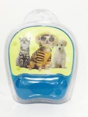 鼠标垫-印花透明硅胶腕垫(大)