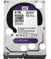 西部数据WD 6TB 西数紫盘 6000G 监控硬盘 (WD60PURX)