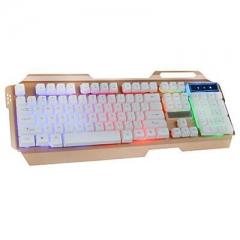凯迪威 VR50 VR30 铝合金发光键盘 白色 USB