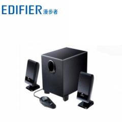 漫步者 R101T06 2.1电脑木质低音炮音箱带线控台式小音响(全黑色) 黑色