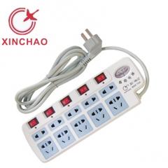 鑫超 XC-9861J  带压力表十孔有线 新国标插排 3米