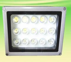 监控补光灯 15W 白光补光灯 15个1W大功率晶元灯芯 灯板灌胶 12V 供电