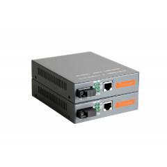 广电达 千兆单模双纤光纤收发器 光电转换器25KM一对