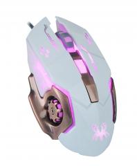 蝎族 风火轮V60 专业电竞游戏鼠标 白色 USB