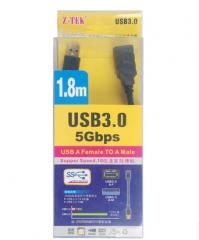 Z-TEK力特 USB 3.0延长线 公对母 1.8米