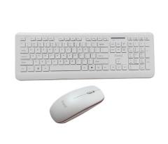 方正科技(ifound)W8201白色超薄无线键盘 白色 无线