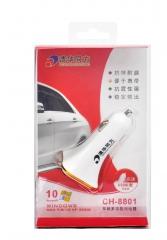 清华同方CH8801车充(3U口)2.1A/1.0A/1.0A车载充电器 白色