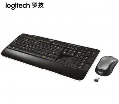 罗技MK520无线键鼠套装电脑台式多媒体全尺寸办公键盘鼠标 黑色 无线
