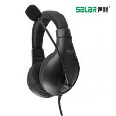 声籁 A566 头戴式电脑耳机电竞游戏耳麦带麦话筒 黑色