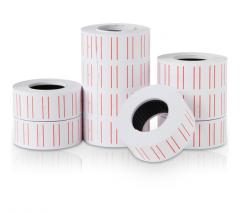 得力 3210 通用单排标价纸价签纸 21.5×12mm 10卷/筒