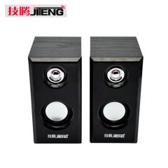 技腾 JT042 全木质USB口  笔记本电脑小音箱 【30/箱】 黑色