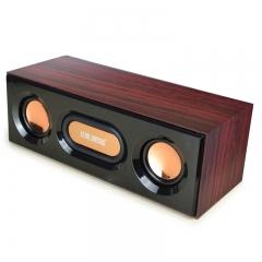 技腾 JT088  USB口 笔记本电脑音箱一体木质小音响低音炮 【20/箱】 黑色