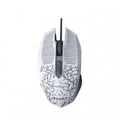 清华同方 M308 七彩呼吸炫光 有线鼠标 白色 USB