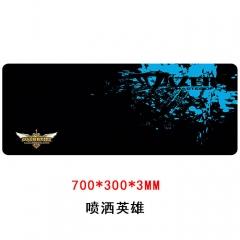 鼠标垫  魅影英雄联盟 300*700*3 精密锁边鼠标垫