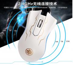 清华同方键鼠  T3 无线鼠标 白色 无线