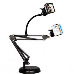 DM-35Y 桌面圆盘双手机悬臂直播支架