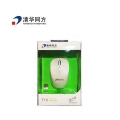 清华同方 T19 无线充电鼠标 白色 无线