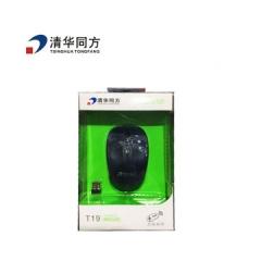 清华同方 T19 无线充电鼠标 深蓝 无线