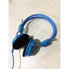 清华同方 T332MV  电脑耳麦 头戴式可调节耳麦【裸包】 蓝色