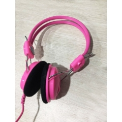 清华同方 T332MV  电脑耳麦 头戴式可调节耳麦【裸包】 粉色