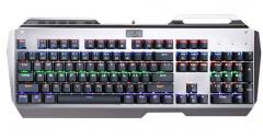虹龙 K320 青轴背光 金属防水 机械游戏键盘 银色 USB