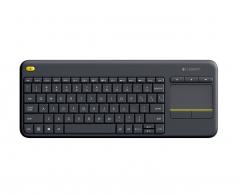 罗技 K400Plus 安卓智能电视专用电脑笔记本触摸面板无线触控键盘 黑色 无线