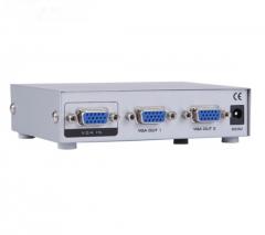 迈拓维矩 MT-1502-K VGA分配器150MHZ 1进2出视频分屏器