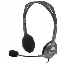 罗技 H111 立体声带麦克风电脑耳麦 黑色