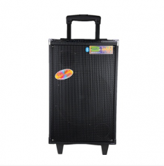 汉笙A10-2户外音响移动广场舞电瓶锂电大功率拉杆音箱10寸重低音 黑色