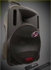 汉笙A12-1  广场舞音响12寸户外蓝牙录音拉杆音响 黑色