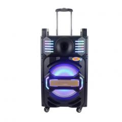 汉笙 QX-1012 10寸插卡移动拉杆电瓶音响广场舞大功率蓝牙户外音箱