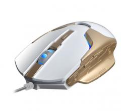 爵蝎 G30闪电侠 USB有线鼠标6D加重电竞鼠标 白金 USB